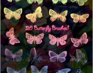 20 Butterfly Brushes Photoshop brush