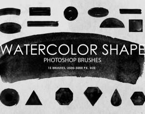 Free Watercolor Shape Photoshop Brushes Photoshop brush
