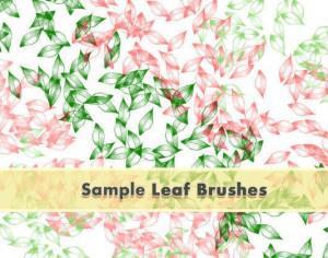 Leafy Brushes Set Sample Photoshop brush