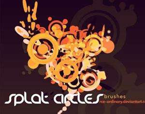 Splat Circles Photoshop brush