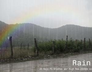 20 Rain PS Brushes abr vol.4 Photoshop brush