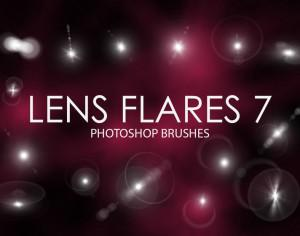 Free Lens Flare Photoshop Brushes 7 Photoshop brush