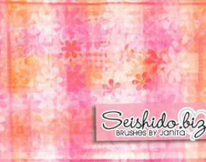 FREE Seishido.biz Floral Texture Brushes  Photoshop brush