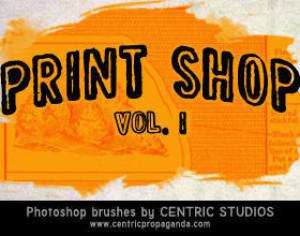 Print Shop Vol. I Photoshop brush