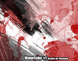 WaterColor Brushes Pack Photoshop brush