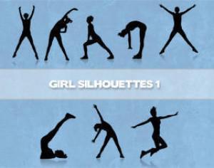 Girls Silhouettes Brushes Photoshop brush