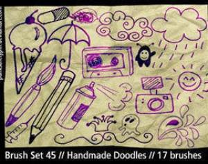 Handmade Doodle Brushes Photoshop brush