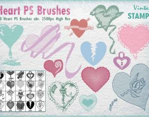 Heart PS Brushes  Photoshop brush