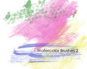 40 Watercolor Brushes Photoshop brush