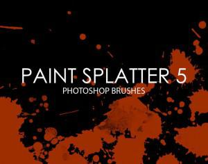 Free Paint Splatter Photoshop Brushes 5 Photoshop brush