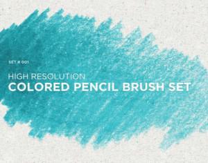 Colored Pencil Brush Set Photoshop brush