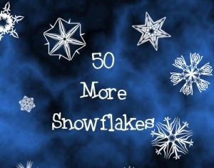 50 More Snowflakes Photoshop brush