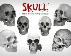 20 Skull PS Brushes abr  vol.7  Photoshop brush