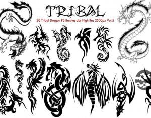 Tribal Dragon PS Brushes Vol.5 Photoshop brush