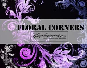 Floral Corners Photoshop brush