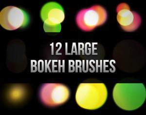 12 Large Bokeh Brushes Photoshop brush