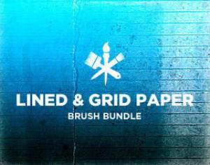 Lines & Grids Paper Photoshop brush