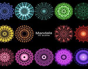 20 Mandala PS Brushes abr. vol.6 Photoshop brush