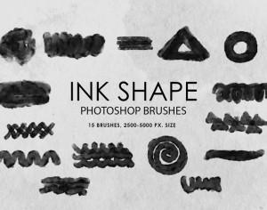 Free Ink Shape Photoshop Brushes Photoshop brush
