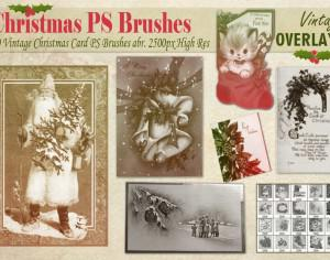 Vintage Christmas Card PS Brushes abr Photoshop brush