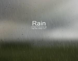 20 Rain PS Brushes abr vol.7 Photoshop brush