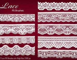 20 Lace PS Brushes abr Photoshop brush