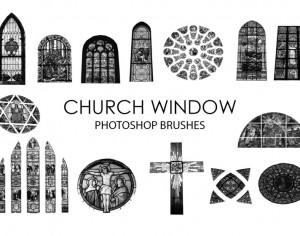 Free Church Window Photoshop Brushes Photoshop brush
