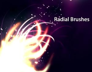 Radial Brushes Photoshop brush