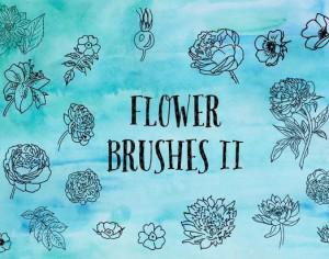 Flower Brushes Part 2 - The Smell of Roses Photoshop brush
