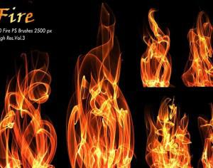 20 Fire PS Brushes abr.Vol.3 Photoshop brush