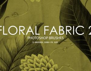 Free Floral Fabric Photoshop Brushes 2 Photoshop brush
