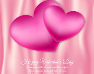 Valentine's day vector illustration with hearts Photoshop brush