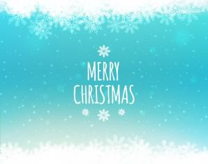 Christmas background with typography Photoshop brush