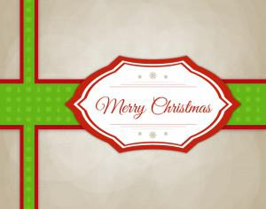 Christmas vector illustration with label Photoshop brush