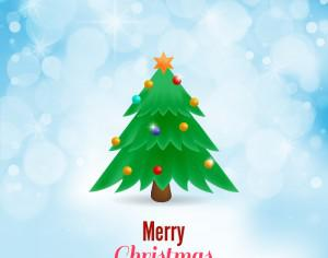 Christmas vector illustration with Christmas tree Photoshop brush
