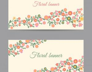 Floral banners Photoshop brush