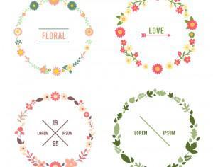 Floral frame set Photoshop brush