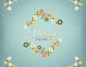 Vintage floral illustration Photoshop brush