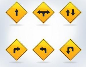 Traffic signs set Photoshop brush