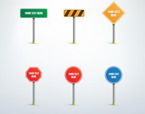 Traffic sign vector set Photoshop brush