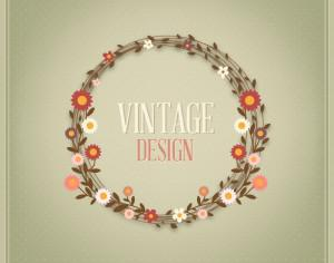 Floral vintage card Photoshop brush