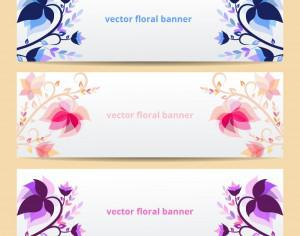 Floral vector banners Photoshop brush