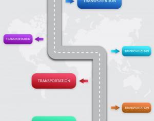 Transportation infographic Photoshop brush