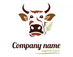 Cow logo design Photoshop brush