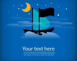Sailing cartoon boat illustration Photoshop brush