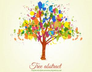Colorful splashes tree Photoshop brush