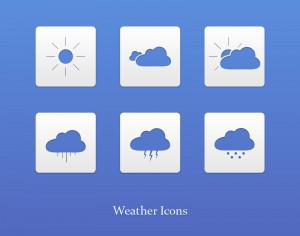 Weather icons Photoshop brush