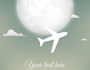 Abstract Airplane Illustration Photoshop brush