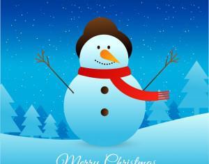 Christmas illustration with santa Photoshop brush
