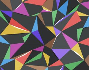 Colorful Triangles Photoshop brush